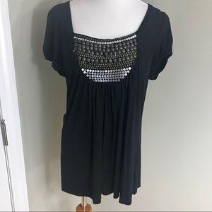 Tops - Women's Black Embellished Top